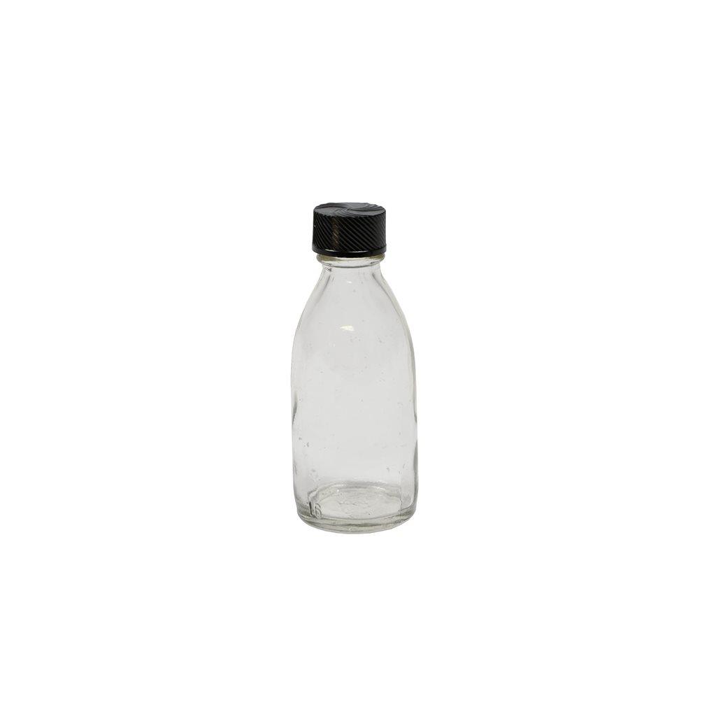 Lahvička skleněná úzkohrdlá 50 ml s plastovým víčkem