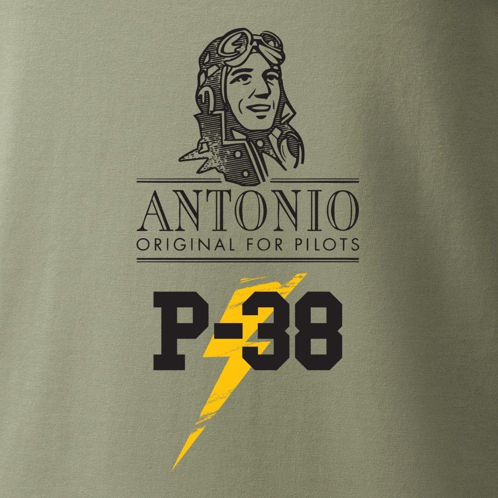 Triko P-38 LIGHTNING ZELENÉ ANTONIO® 02139194 L-11