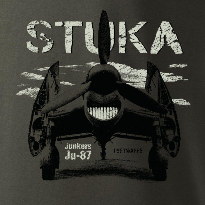 Triko Junkers Ju-87 STUKA ŠEDOZELENÉ ANTONIO® 0214501 L-11