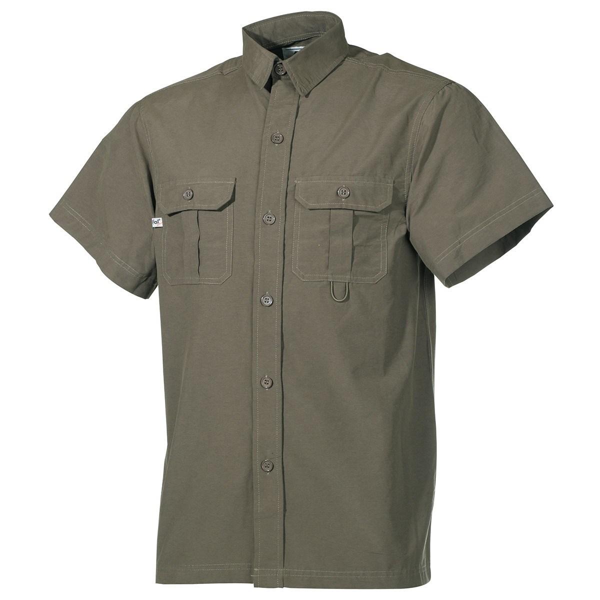 Košile OUTDOOR krátký rukáv ZELENÁ FOX Outdoor 02303B L-11