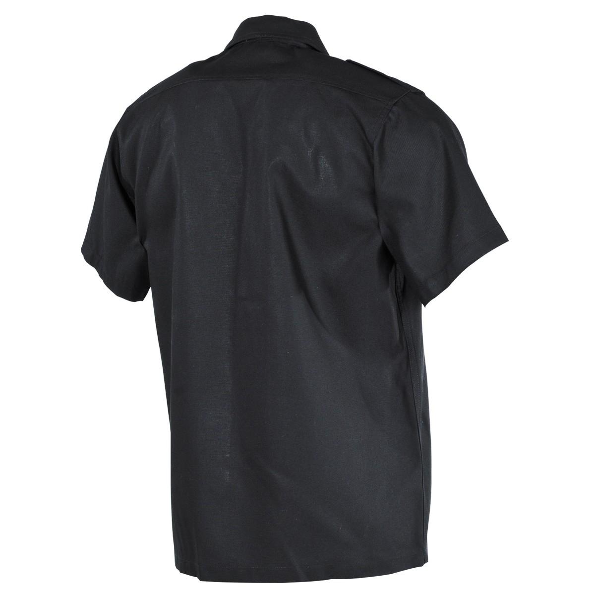 Košile US krátký rukáv ČERNÁ MFH int. comp. 02712A L-11