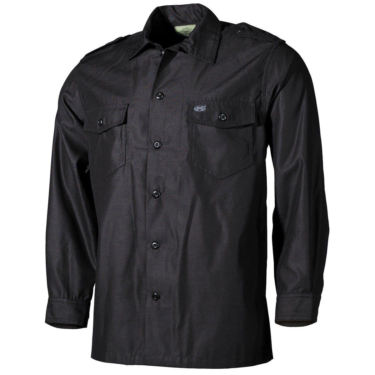 Košile US dlouhý rukáv ČERNÁ MFH int. comp. 02752A L-11