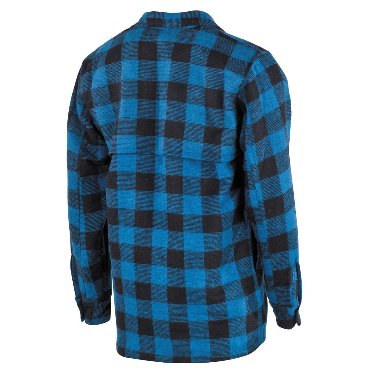 Košile kostkovaná dřevorubecká MODRÁ/ČERNÁ FOX Outdoor 02853G L-11