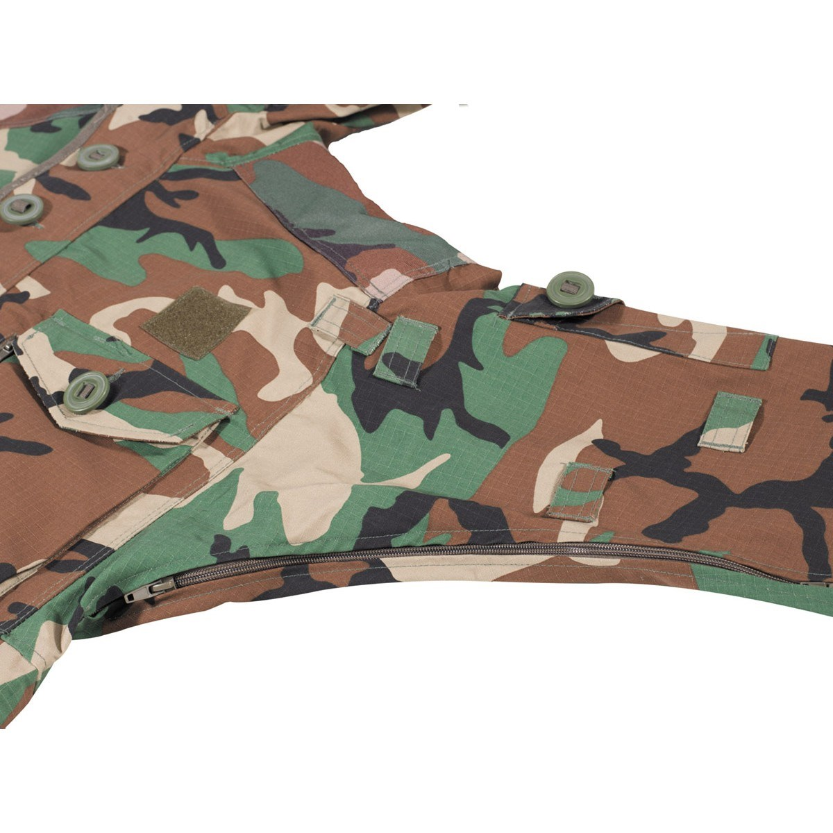 Bunda COMMANDO SMOCK WOODLAND MFH Defence 03482T L-11