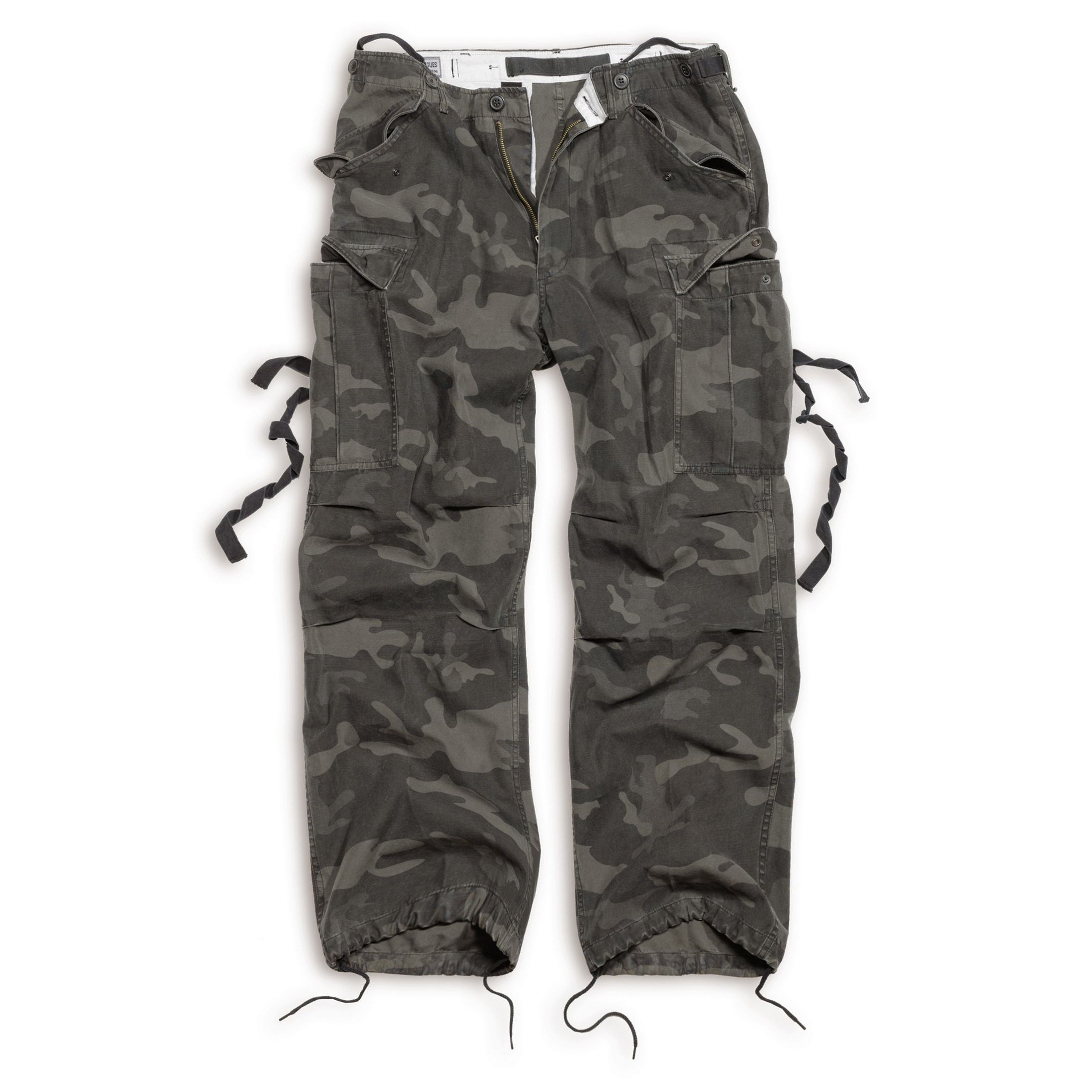 SURPLUS | Kalhoty VINTAGE FATIGUE BLACK CAMO