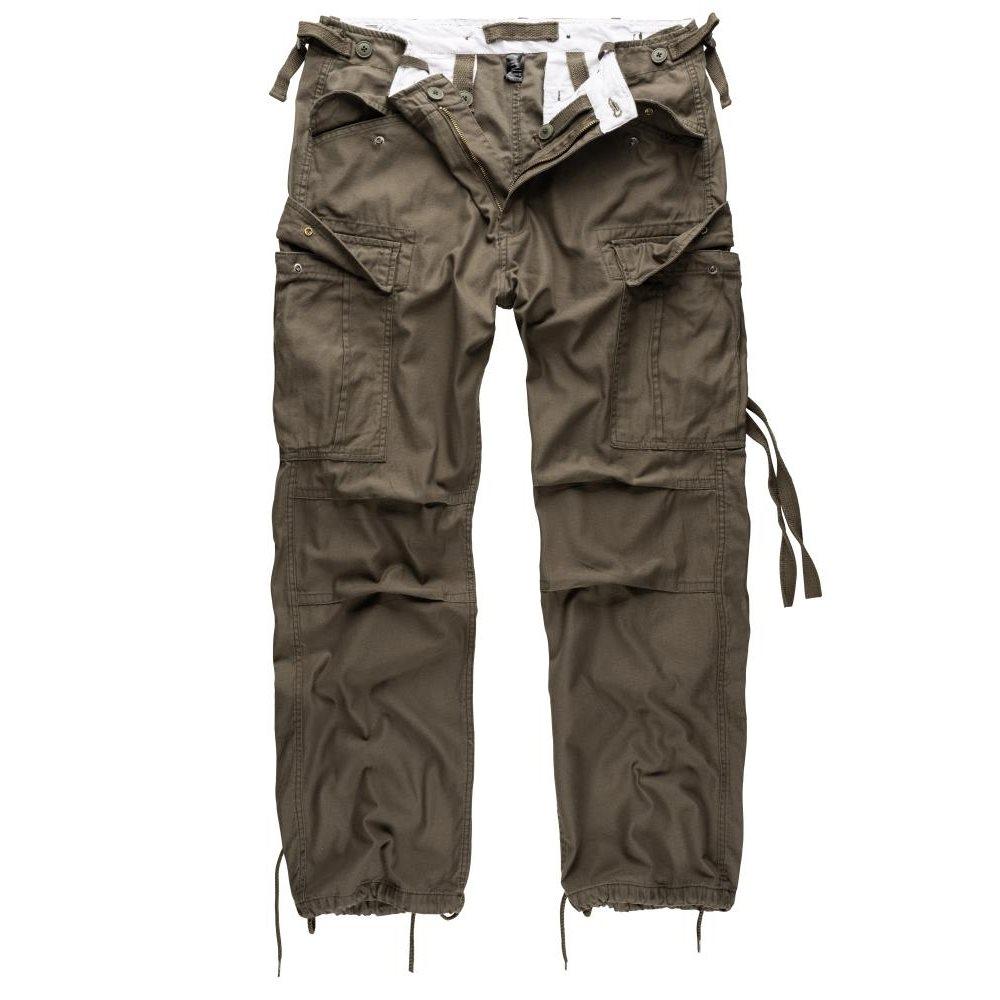 SURPLUS | Kalhoty VINTAGE FATIGUE ZELENÉ