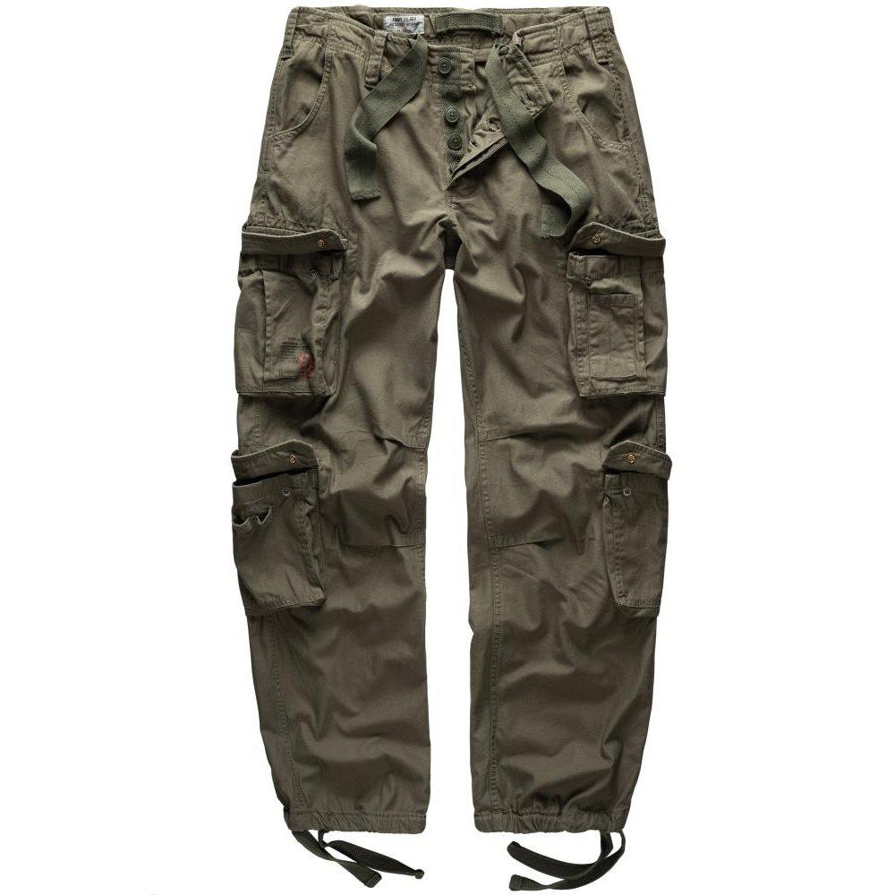 SURPLUS | Kalhoty AIRBORNE VINTAGE ZELENÉ