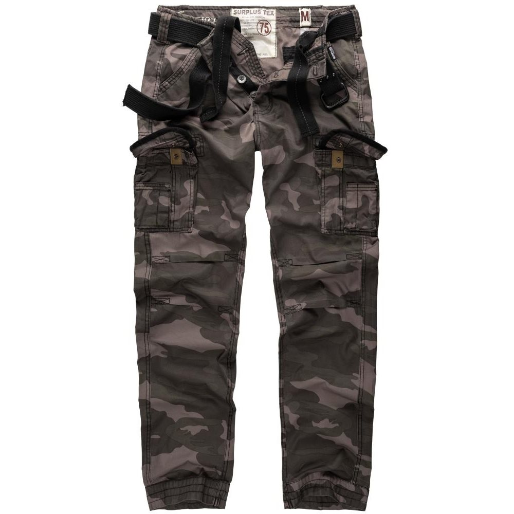 SURPLUS Kalhoty PREMIUM SLIMMY BLACK CAMO