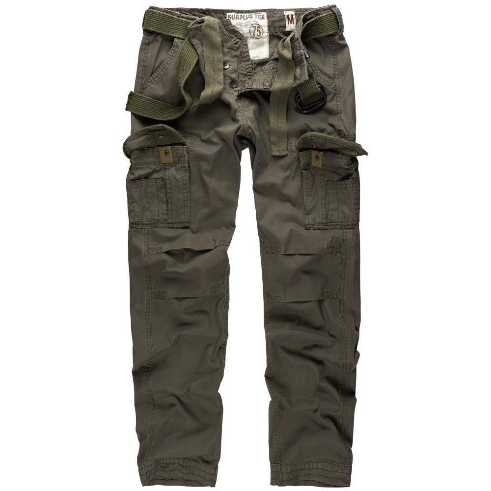 SURPLUS | Kalhoty PREMIUM SLIMMY ZELENÉ