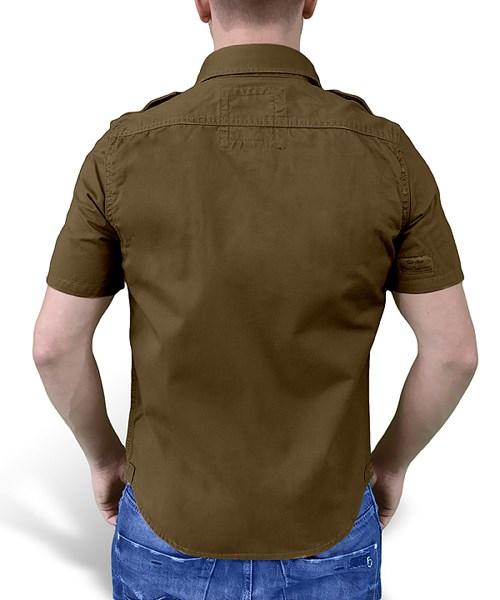 Košile RAW VINTAGE s krátkým rukávem HNĚDÁ SURPLUS 06-3590-05 L-11