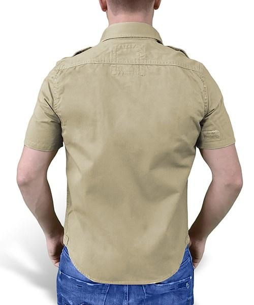 Košile RAW VINTAGE s krátkým rukávem KHAKI SURPLUS 06-3590-74 L-11