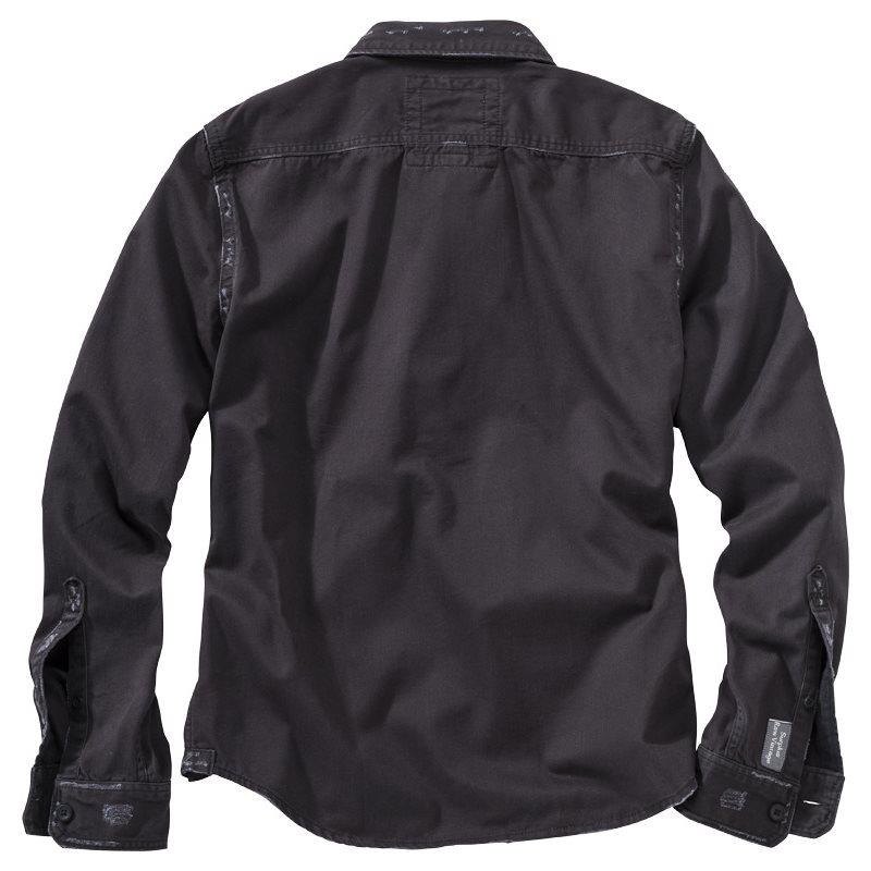 Košile RAW VINTAGE s dlouhým rukávem ČERNÁ SURPLUS 06-3591-63 L-11