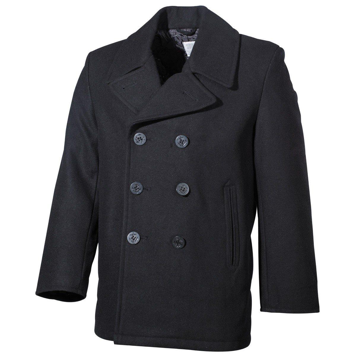 Kabát US  Pea Coat ČERNÝ MFH int. comp. 09015A L-11