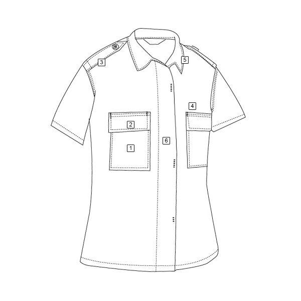 Košile služební krátký rukáv rip-stop ČERNÁ TRU-SPEC 10000 L-11