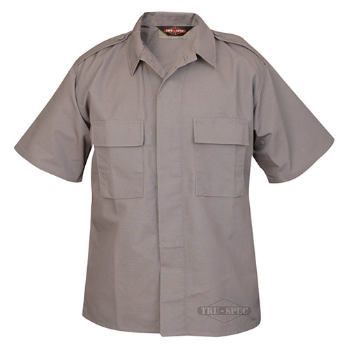 Košile služební krátký rukáv rip-stop ŠEDÁ TRU-SPEC T10020 L-11