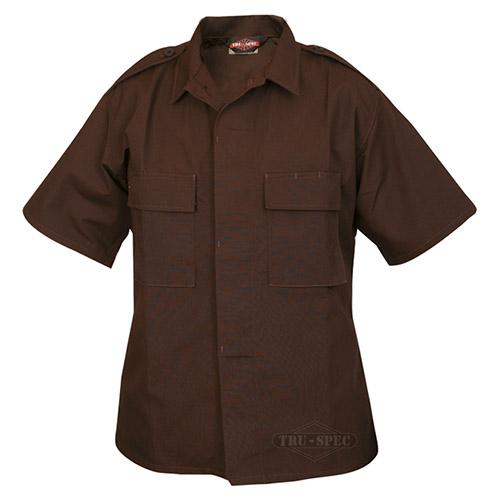 Košile služební krátký rukáv rip-stop HNĚDÁ TRU-SPEC 10040 L-11