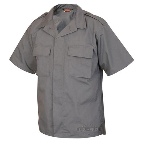 Košile služební krátký rukáv rip-stop TMAVĚ ŠEDÁ TRU-SPEC 10050 L-11