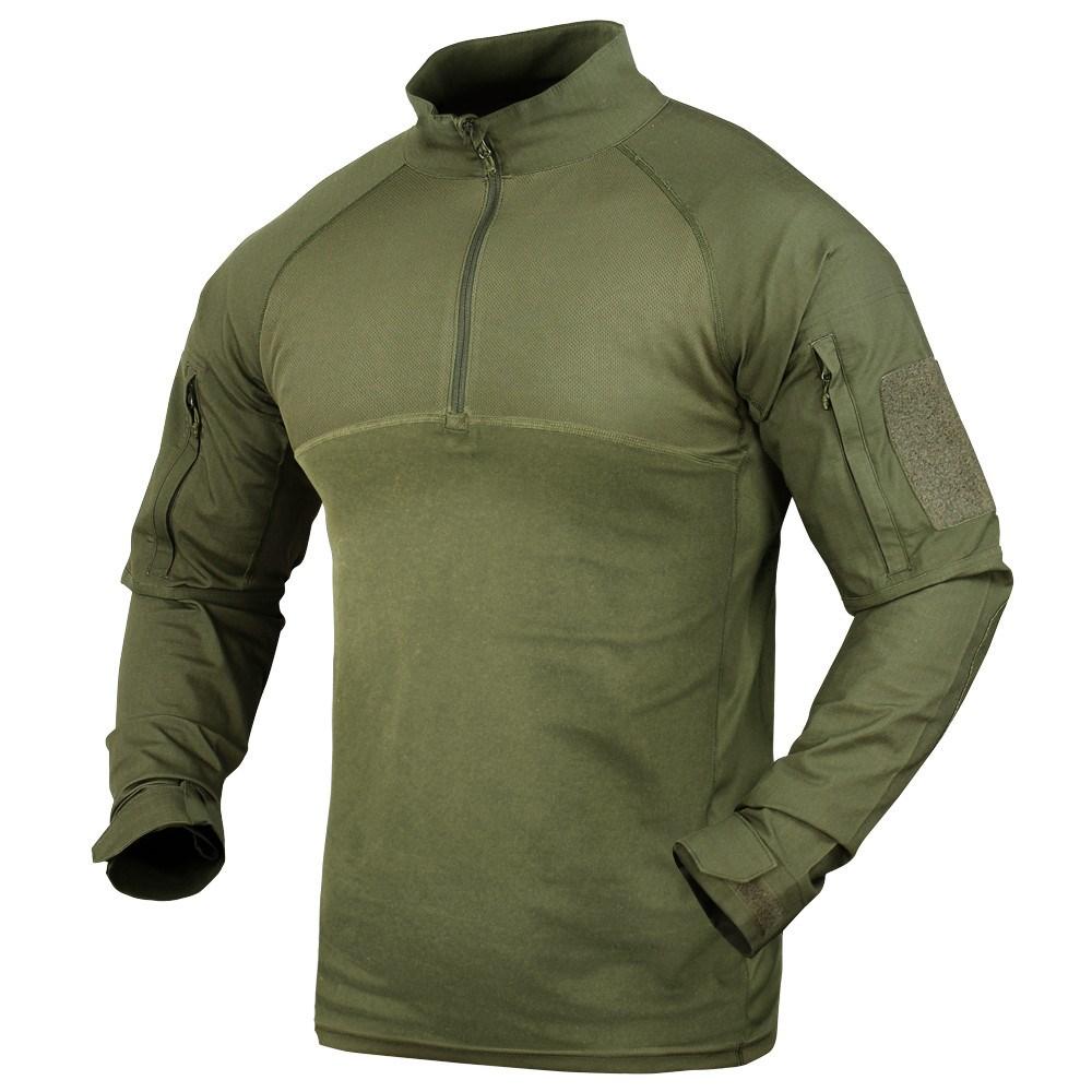Košile taktická COMBAT se zipem ZELENÁ CONDOR OUTDOOR 101065-001 L-11