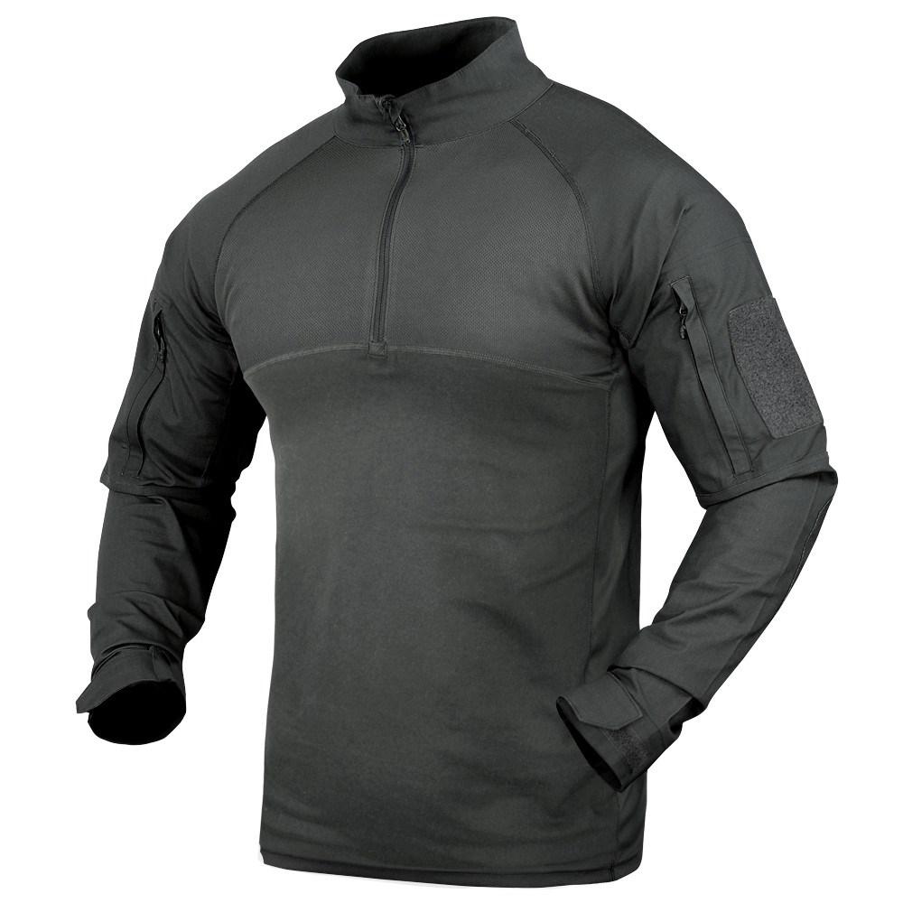 Košile taktická COMBAT se zipem ČERNÁ CONDOR OUTDOOR 101065-002 L-11