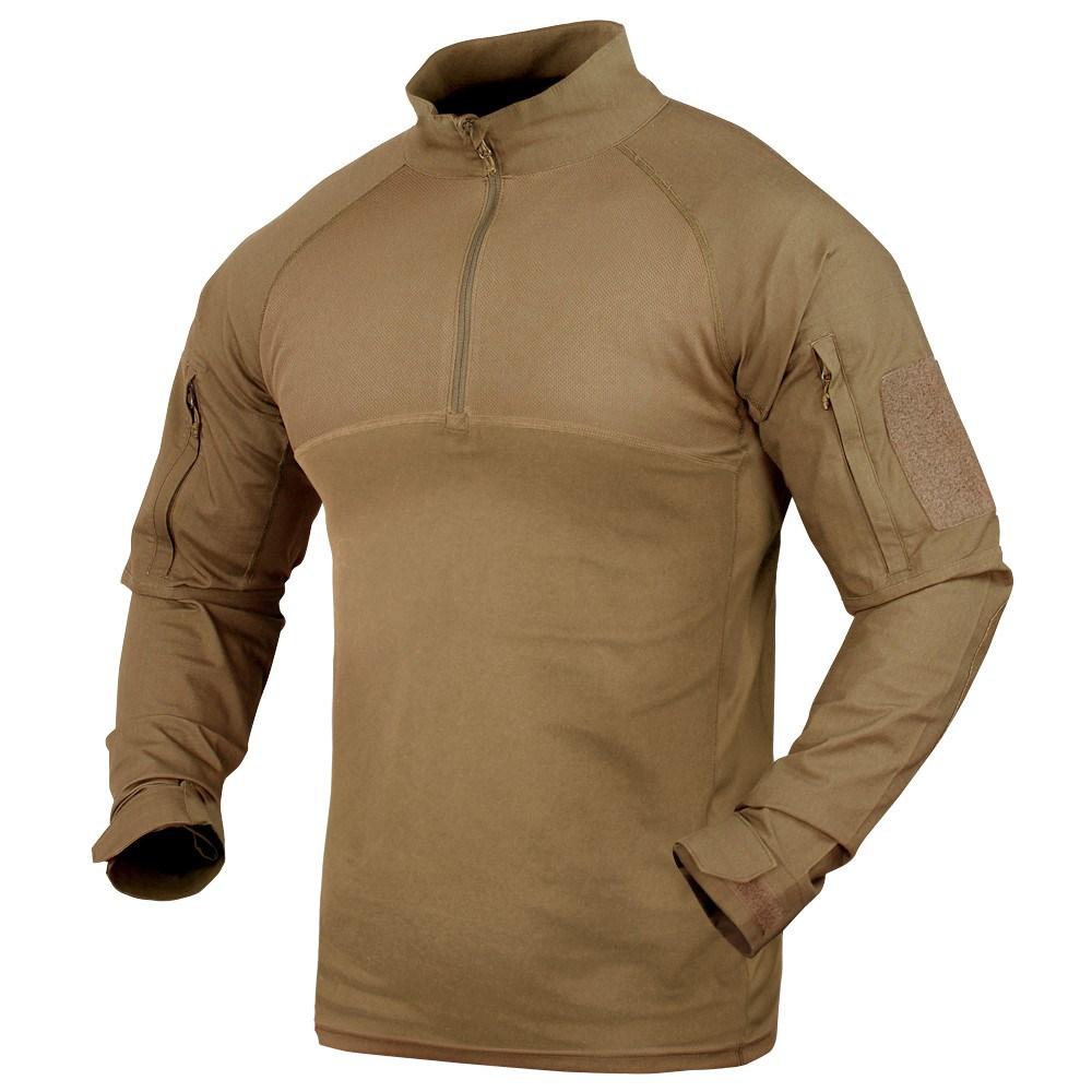 Košile taktická COMBAT se zipem TAN CONDOR OUTDOOR 101065-003 L-11