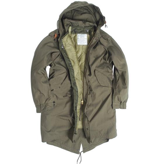Bunda US M51 FISHTAIL s vložkou a kapucí ZELENÁ TEESAR® 10122101 L-11