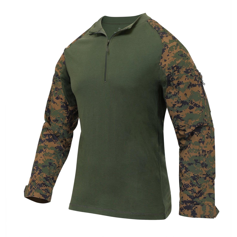 Košile taktická se zipem AIRSOFT COMBAT DIGITAL WOODLAND ROTHCO 10224 L-11