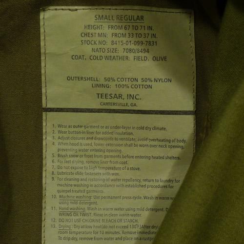 Bunda US M65 NYCO TEESAR ZELENÁ TEESAR® 10311001 L-11
