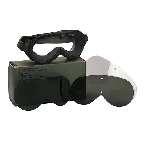 Náhradní sklo pro brýle typ US M 44 KOUŘOVÉ