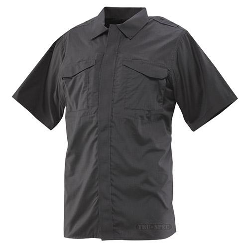 Košile 24-7 UNIFORM krátký rukáv rip-stop ČERNÁ TRU-SPEC 24-7 10450 L-11