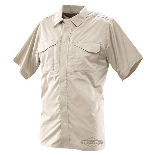Košile 24-7 UNIFORM krátký rukáv rip-stop KHAKI TRU-SPEC 24-7 10460 L-11