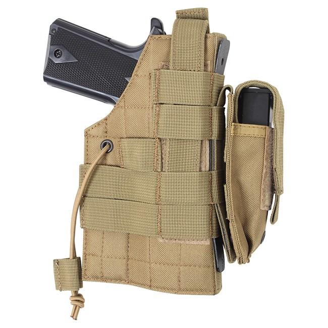 ROTHCO Pouzdro pistolové oboustranné MOLLE COYOTE