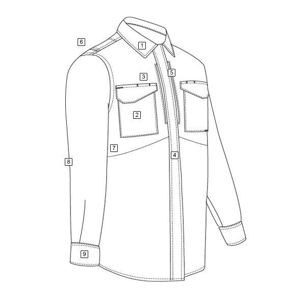 Košile 24-7 UNIFORM dlouhý rukáv rip-stop MODRÁ TRU-SPEC 24-7 10580 L-11