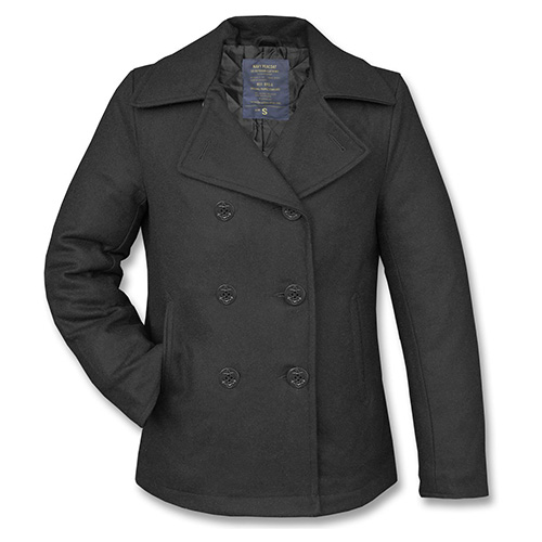 Kabát US PEA COAT vlněný ČERNÝ MIL-TEC® 10580000 L-11