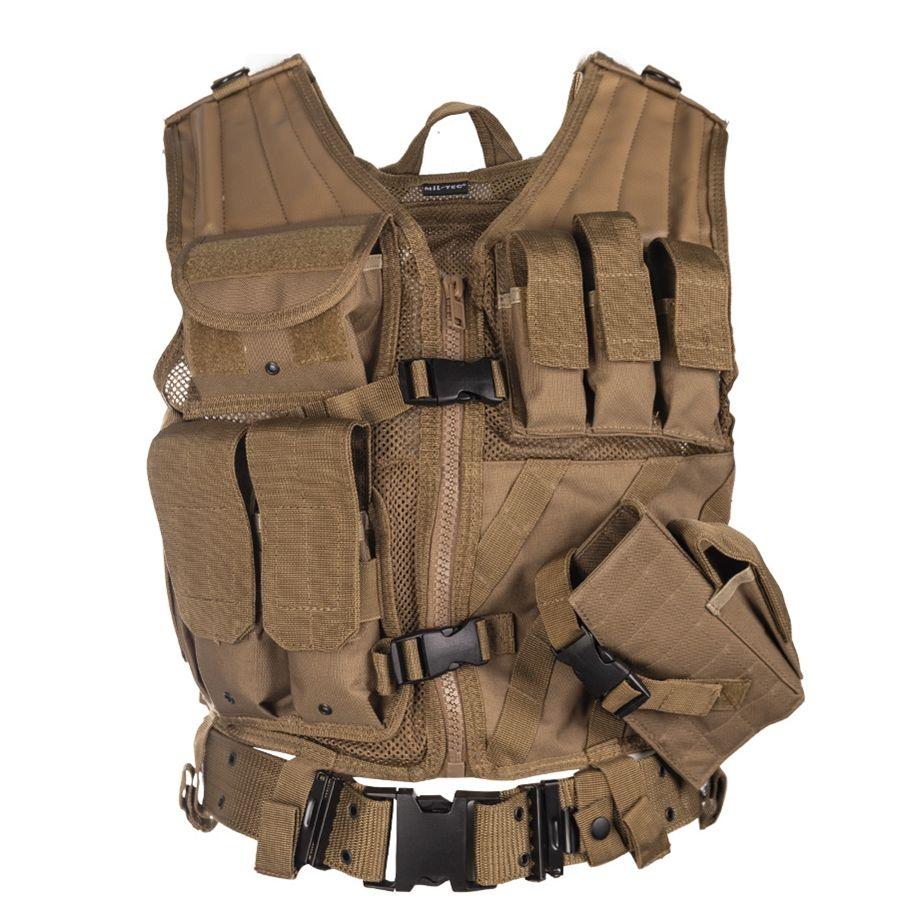 MIL-TEC® Vesta taktická CROSSDRAW USMC COYOTE