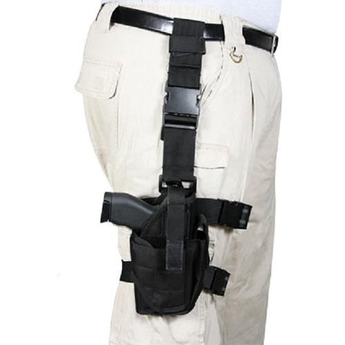 ROTHCO Pouzdro pistolové stehenní UNI DELUXE ČERNÉ