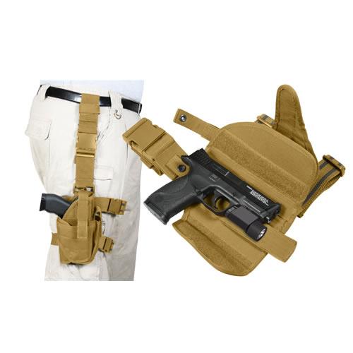 ROTHCO Pouzdro pistolové stehenní UNI DELUXE COYOTE