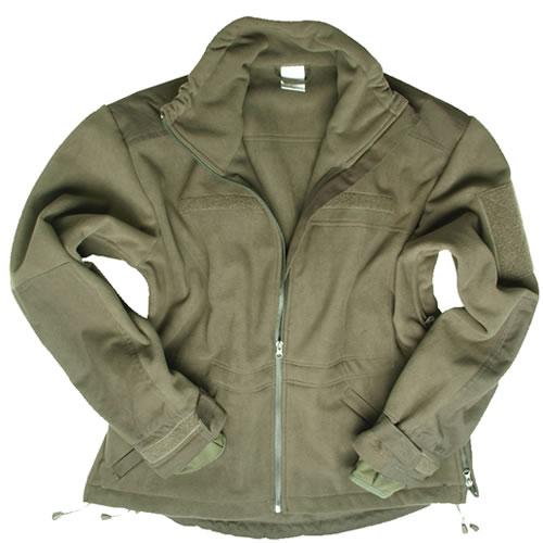 Bunda WINDPROOF fleece ZELENÁ MIL-TEC® 10856101 L-11