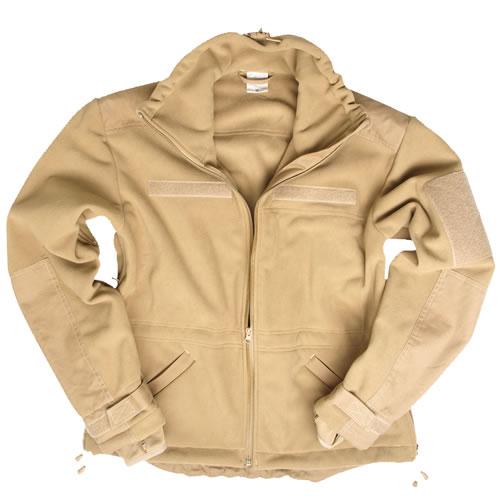 Bunda WINDPROOF fleece COYOTE MIL-TEC® 10856105 L-11