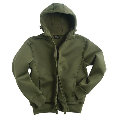 Bunda NEOPREN s fleece podšívkou ZELENÁ MIL-TEC® 10860001 L-11
