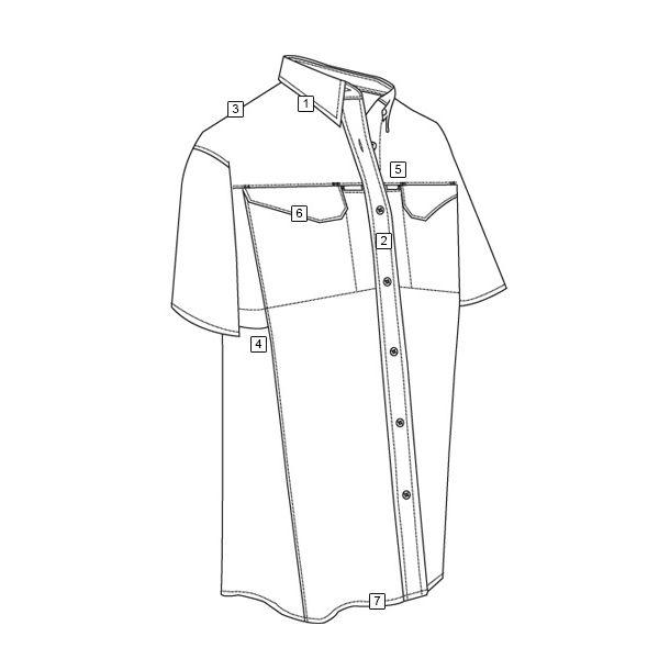 Košile 24-7 FIELD krátký rukáv rip-stop ČERNÁ TRU-SPEC 24-7 1091000 L-11