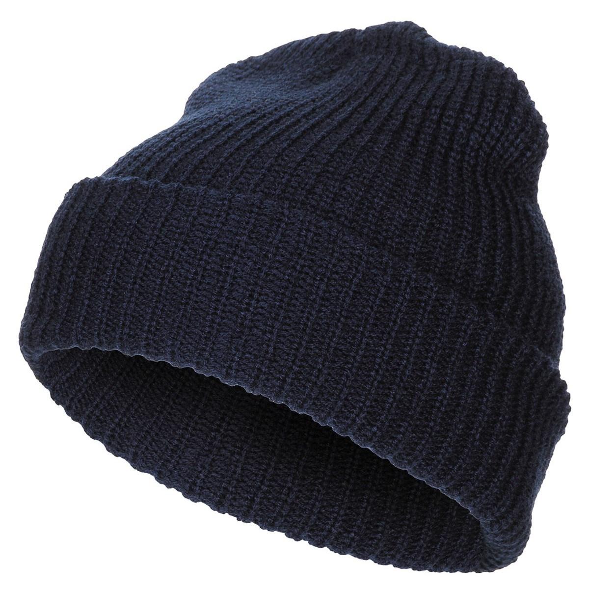 Čepice pletená Acryl MODRÁ