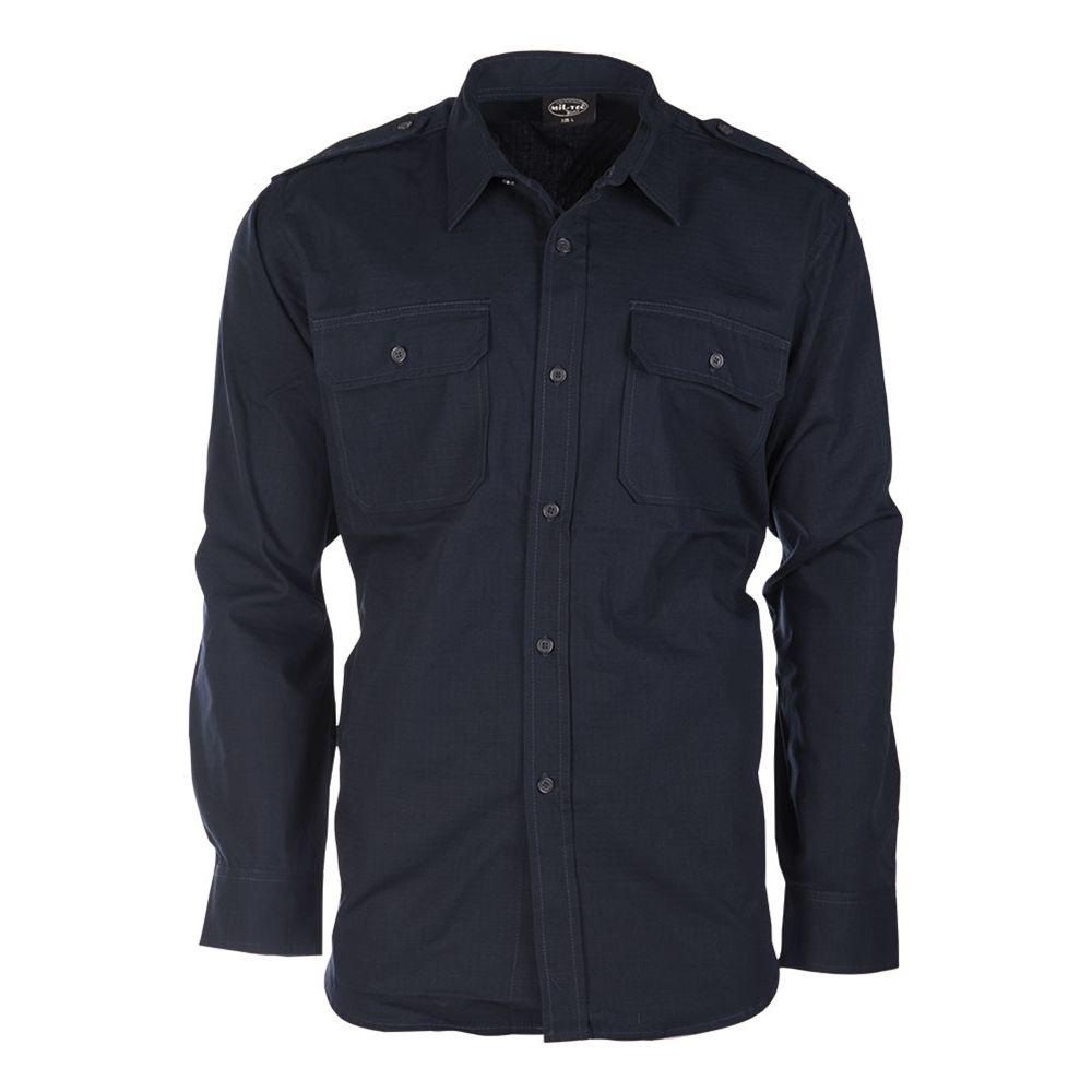 Košile polní na knoflíky rip-stop MODRÁ MIL-TEC® 10915003 L-11
