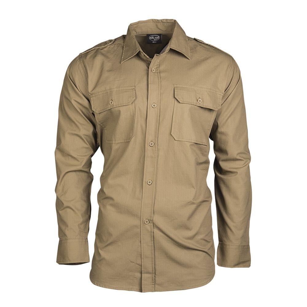 Košile polní na knoflíky rip-stop COYOTE MIL-TEC® 10915005 L-11