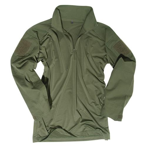 Košile taktická s límečkem ZELENÁ MIL-TEC® 10920001 L-11