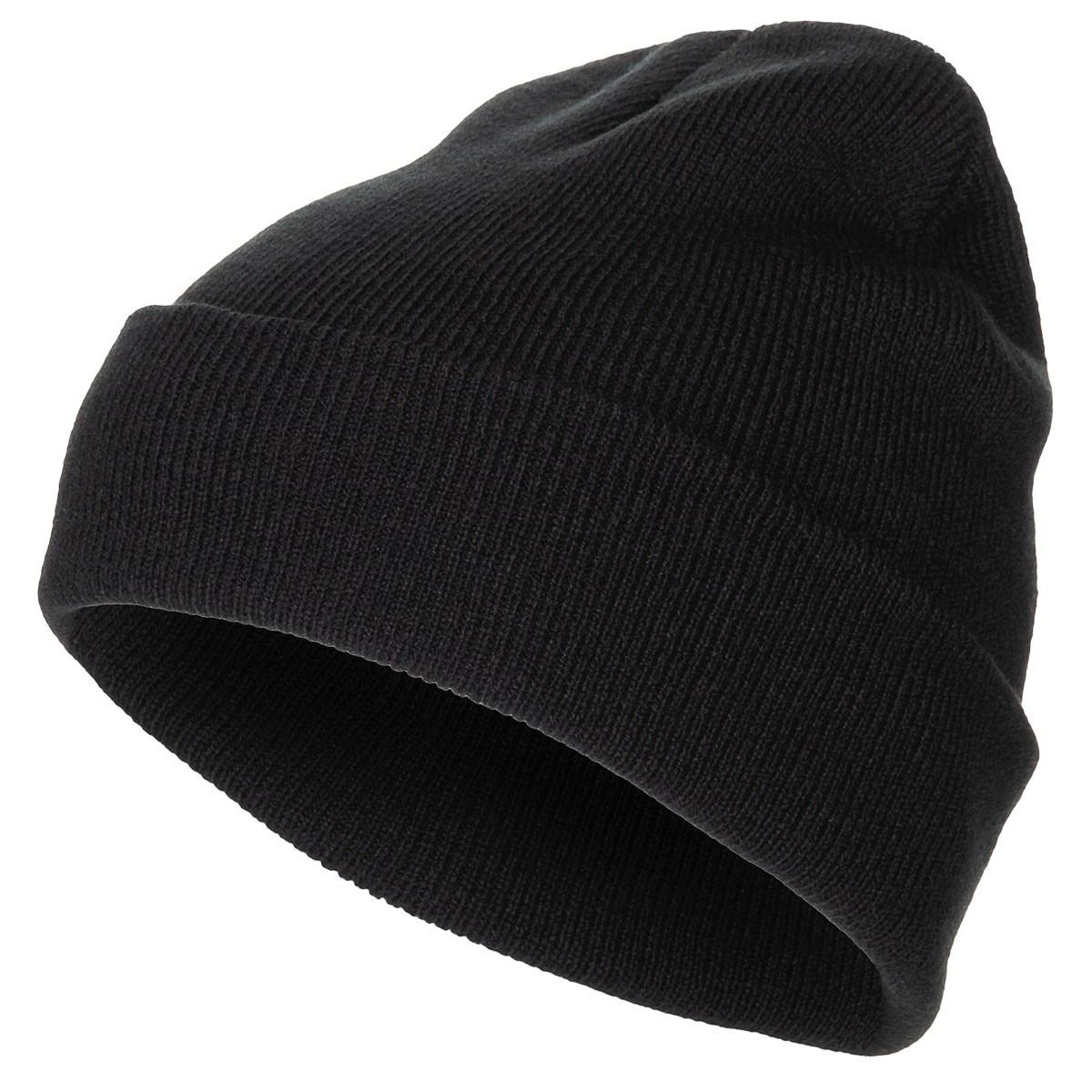 Čepice jemně pletená Acryl ČERNÁ