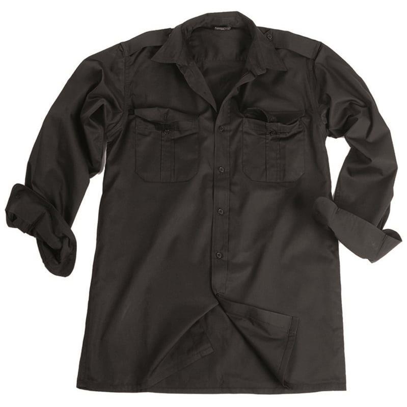 Košile SERVIS dlouhý rukáv na knoflíky ČERNÁ MIL-TEC® 10931002 L-11