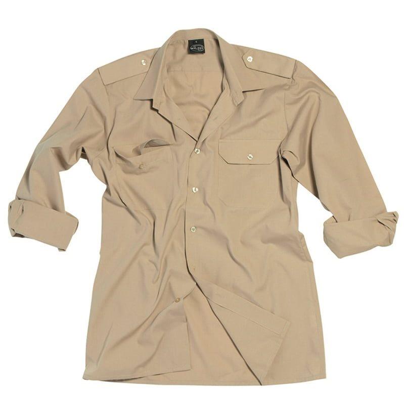 Košile SERVIS dlouhý rukáv na knoflíky KHAKI MIL-TEC® 10931004 L-11