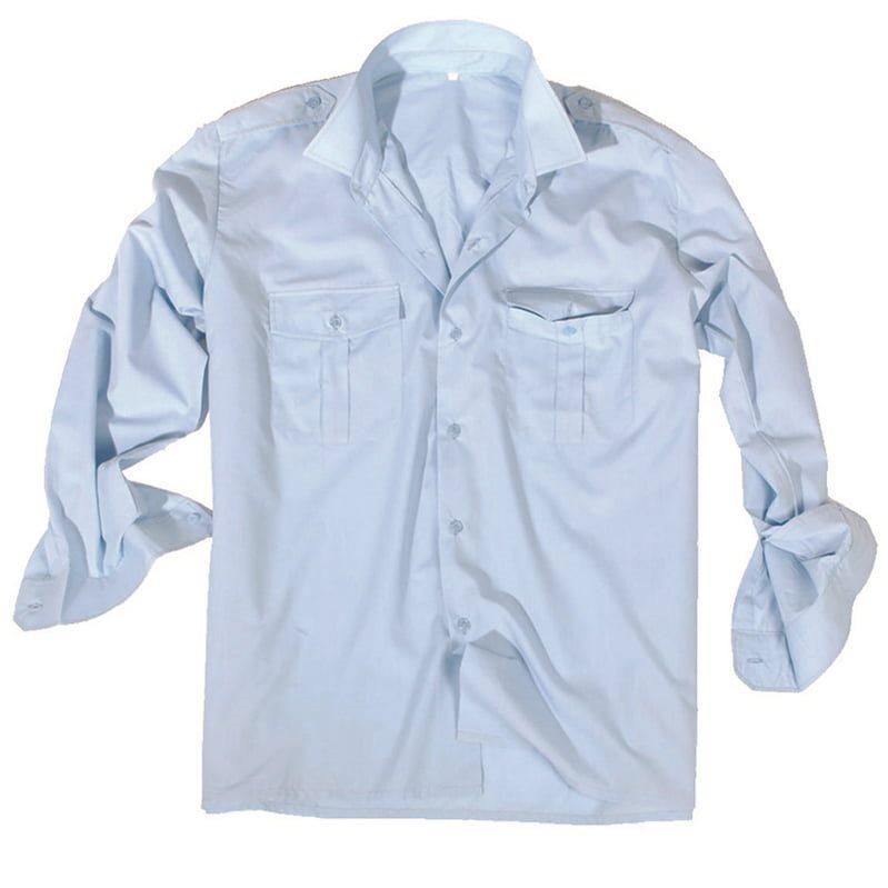 Košile SERVIS dlouhý rukáv na knoflíky SVĚTLE MODRÁ MIL-TEC® 10931011 L-11