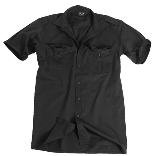 Košile SERVIS krátký rukáv na knoflíky ČERNÁ MIL-TEC® 10932002 L-11