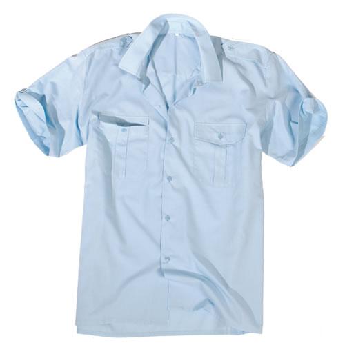 Košile SERVIS krátký rukáv na knoflíky SVĚTLE MODRÁ MIL-TEC® 10932011 L-11